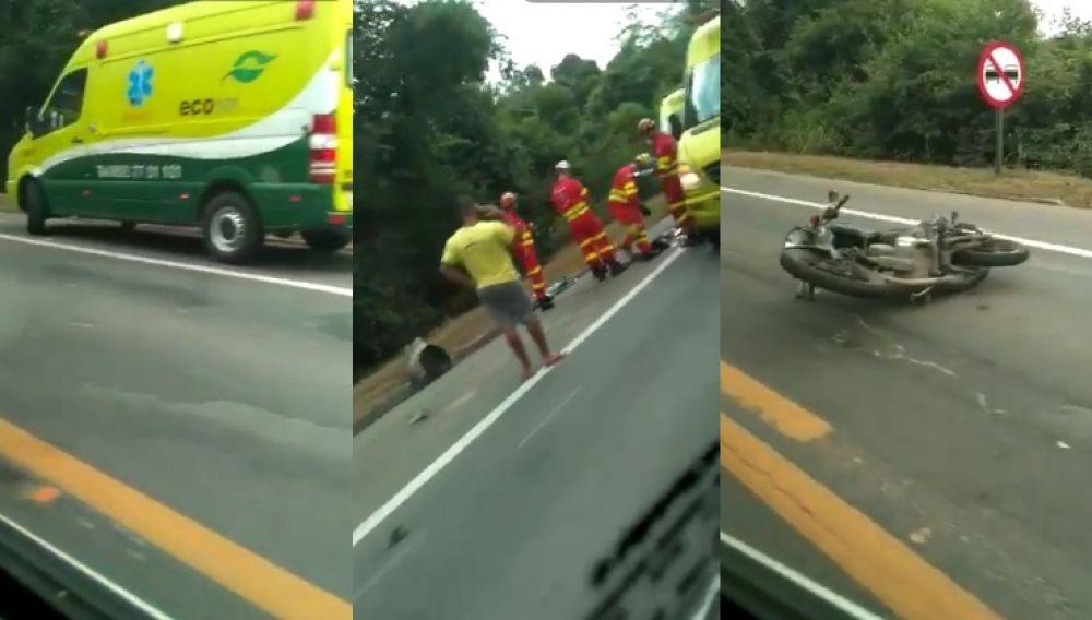 Esse acidente foi na tarde de sexta (15), na entrada do Juncado