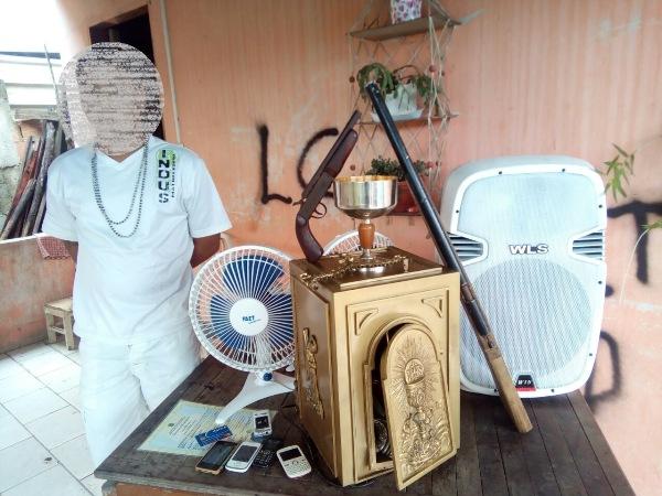 PM detém jovem e recupera produtos de furtos e roubos em Rio Quartel