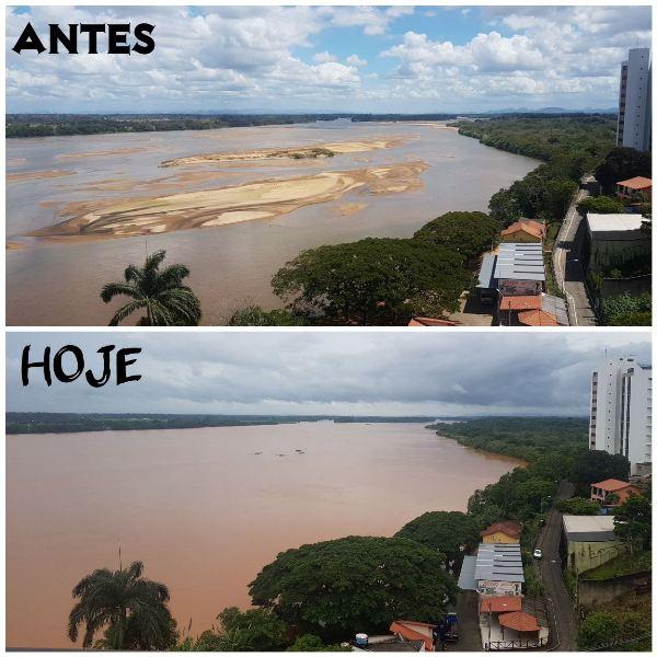 Rio Doce ultrapassa cota de inundação em Linhares - Eu vi em