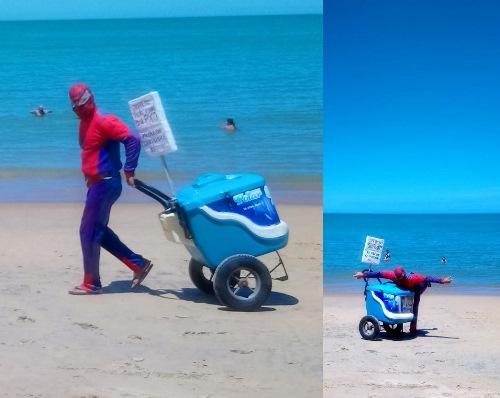 Ganhe 1 foto: 'Homem-Aranha' vende muitos picolés em minutos e vira tema da vida real