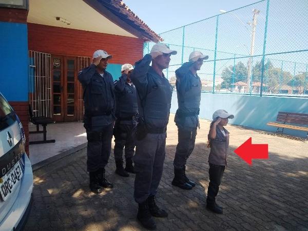 Nina Beatriz: Um sonho realizado junto à Polícia Militar