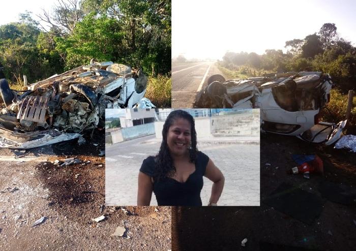 Mulher morre e filha sai gravemente ferida em acidente na Estrada do Pontal