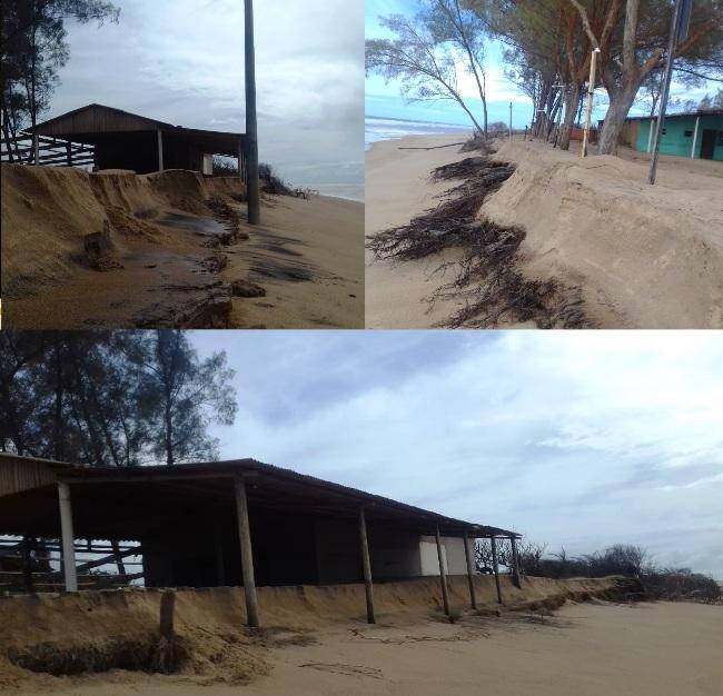 Veja como está a situação no litoral de Linhares por conta da ressaca do mar