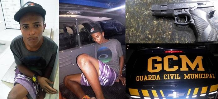 Dois assaltos em bairro nobre de Linhares durante a noite. Um suspeito se deu mal