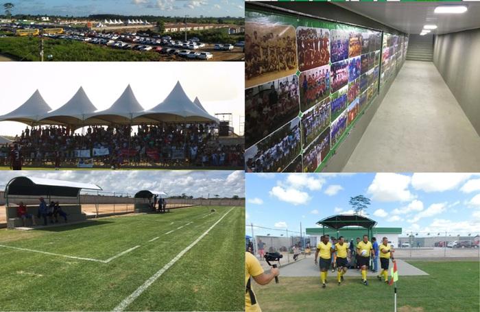 Registro: Agora Sooretama tem Estádio de Futebol. Campo com medidas oficiais