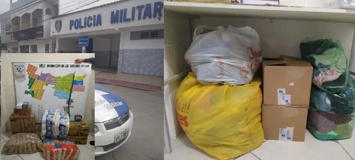 PM de Sooretama arrecada doações para vítimas das enchentes