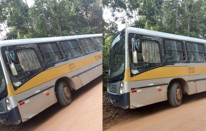 Ônibus escolar: Crianças são deixadas para trás, em Córrego Farias