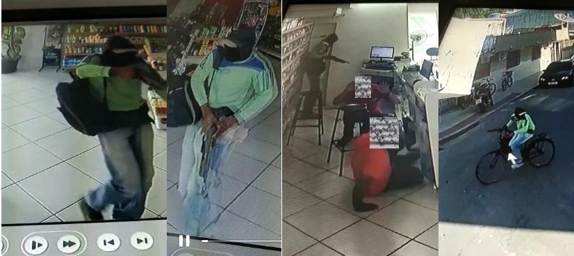 Bandido mascarado assalta farmácia em Sooretama