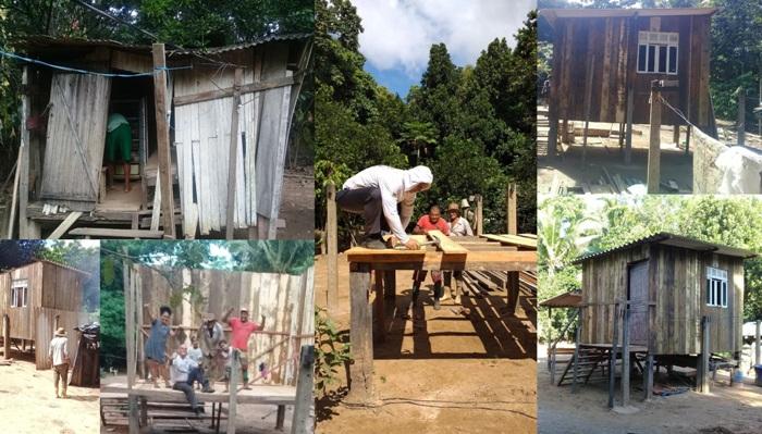 Voluntários concluem casa de idoso que estava prestes a cair em Linhares