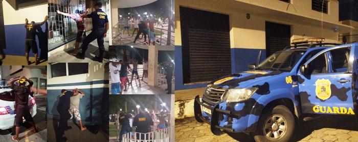 Baculejo: GCM faz verdadeira varredura pelo Centro de Linhares