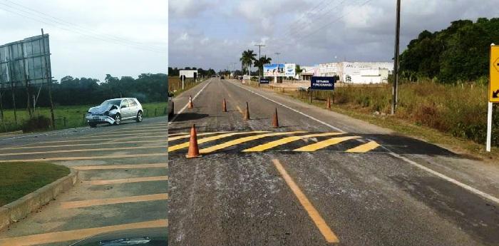 Implantação de quebra-molas na Estrada do Pontal pega motoristas  de surpresa