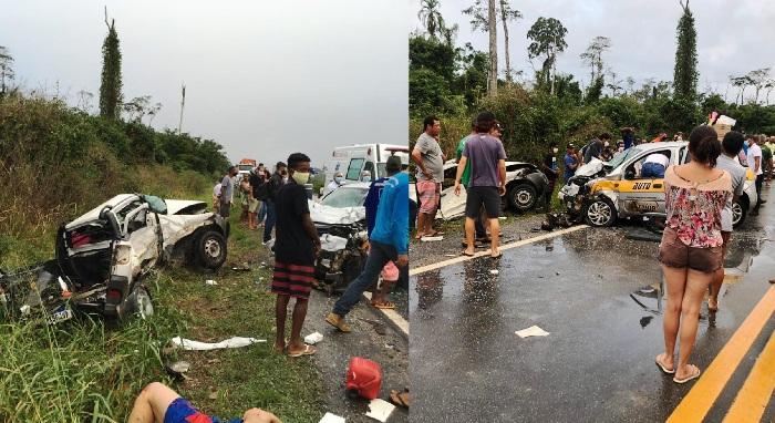 Carro com placa de Linhares se envolve em grave acidente em Jaguaré