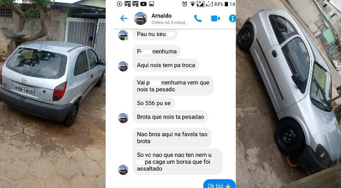 Linharense cai no golpe do aplicativo, fica sem carro e ainda recebe ameaças