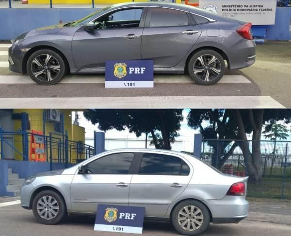 Carro roubado: Pai e filho presos pela PRF no Norte do ES