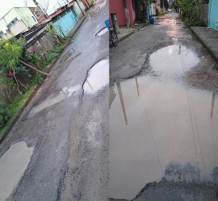 Vila Izabel: Levamos banho de lama, diz morador sobre buracos