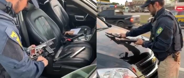 PRF apreende armas e prende motorista em Sooretama