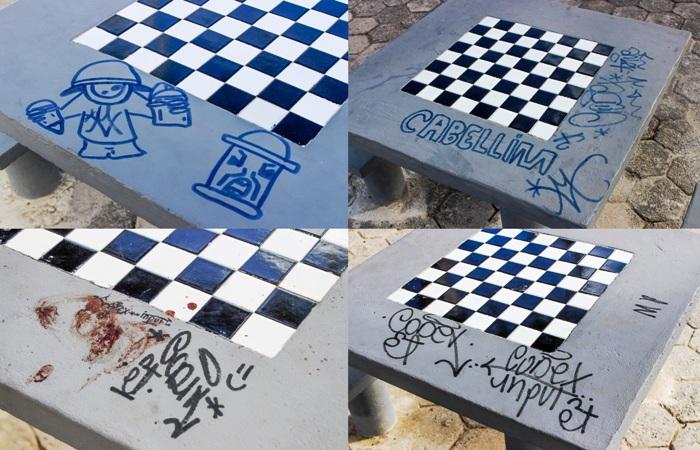 Reformulada recentemente: Praça do Juparanã é alvo de vandalismo