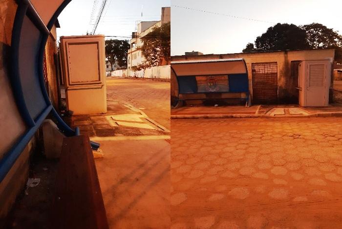 Banheiro atrapalha visibilidade de passageiros em ponto de ônibus no Interlagos