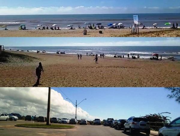 Isolamento? Praia e Riozinho lotados no Pontal, em Linhares