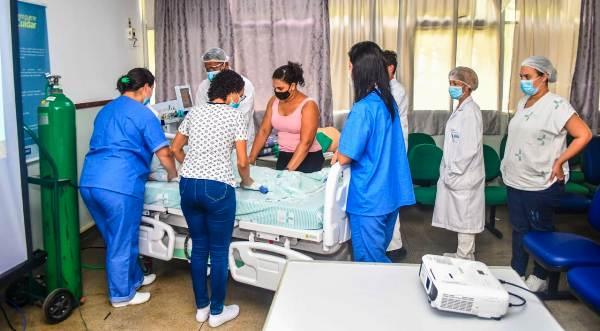 HGL treina profissionais para atenderem casos mais graves de Covid-19