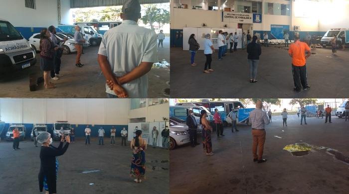 Início de manhã diferente na Central de Ambulância de Linhares