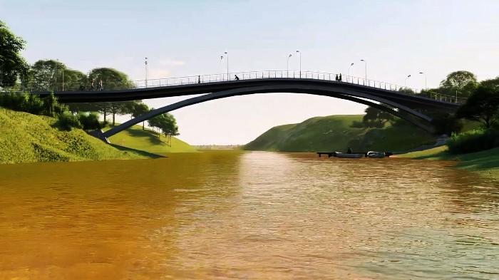 R$ 8 milhões de investimento: Começa construção de passarela e ciclovia entre o São José e Palmital