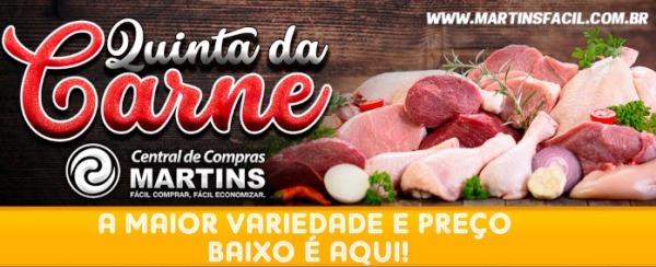 Hoje tem a Quinta da Carne no Martins! Olha a lista e...
