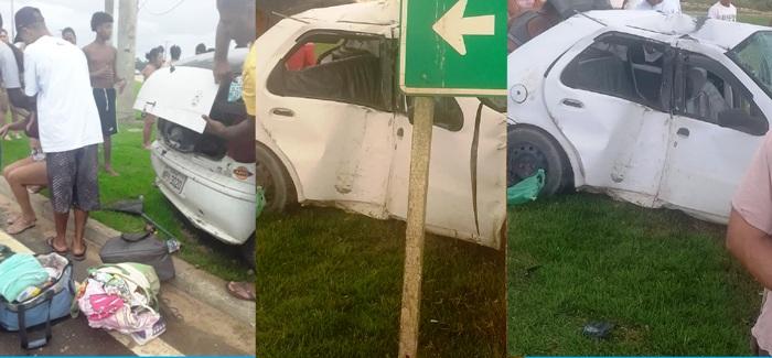 Três feridos em acidente na Estrada do Pontal. Criança está entre as vítimas