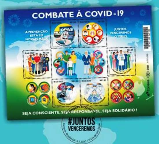Correios lançam selos em homenagem às ações de combate à Covid-19
