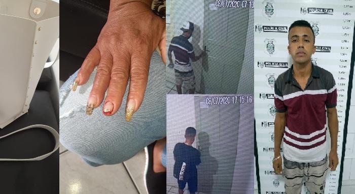 Assaltante que rendeu costureira é preso em hotel no Centro de Linhares