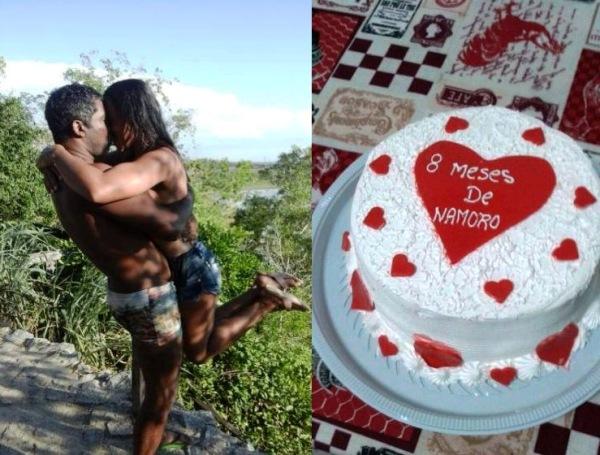 Mesversário da cor do amor: casal apaixonado é sensação na rede social